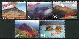 Vanuatu 1998 Volcanoes Set MNH (SG 784-788) - Vanuatu (1980-...)