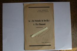 Finistère Ouessant  DE Pronfondis Du Bro-Ela Mort Emile Boussu Janvier 1945 4 Pages 20x 13 - Ouessant