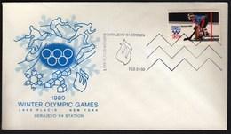 USA Lake Placid 24.2. 1980 Sarajevo Station / Olympic Games Lake Placid / Closing Ceremony / Ice Hockey - Hiver 1980: Lake Placid