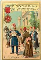 - Chromos -ref-ch865- Chocolat Poulain - Decorations Françaises Et Etrangères - Turquie - Le Medjidié - Militaria - - Poulain