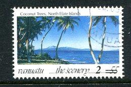 Vanuatu 1998-2000 Surcharges - 2v On 55v Coconut Trees Used (SG 791) - Vanuatu (1980-...)