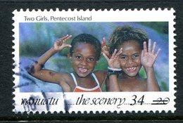 Vanuatu 1998-2000 Surcharges - 34v On 20v Two Girls Used (SG 796) - Vanuatu (1980-...)