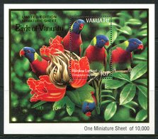 Vanuatu 1999 Birds - Bush & Lowland Birds MS MNH (SG MS808) - Vanuatu (1980-...)
