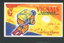 BUVARD:  VIGNALS CHAMPION DU BISCUIT FRANÇAIS - LYON - FORMAT  Env. 12X20 Cm - Food