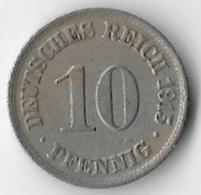 Germany 1915 10 Pfennig [C316/1D] - [ 2] 1871-1918 : German Empire
