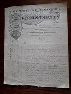 Lettre Ancienne. Sees. Hotel Du Cygne. Vernus - Theurey. Entre 1910 Et 1919 - 1900 – 1949