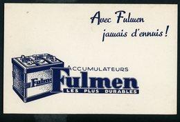 BUVARD:  FULMEN - AVEC FULMEN JAMAIS D'ENNUIS - FORMAT  Env. 13,5X21 Cm - Automobile