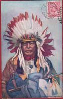 Chief Black Thunder North American Indian Native 1910 - Canada