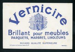 BUVARD:  VERNICIRE - BRILLANT POUR MEUBLES - - FORMAT  Env. 19,5X12,5 Cm - Peintures