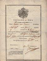 VP14.576 - Passeport - Governo Di PISA 1823 - Passaporti - Vieux Papiers