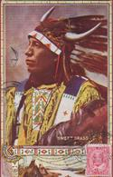 Chief Black Thunder North American Indian Native 1910 Chef Indien Canada - Canada