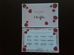 "LADURÉE~~~ "" Saint Valentin ""  Superbe Carte  Postale  R/V!! - Perfume Cards"