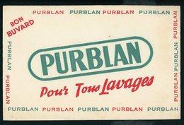 BUVARD:  PURBLAN POUR TOUS LAVAGES - FORMAT  Env. 13,5X21 Cm - Produits Ménagers