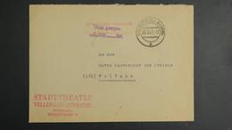 Lettre De Villingen Mars 1947 Allemagne Occupation Française Pour Wolfach Gouvernement Militaire  Taxe Perçue - Zone Française