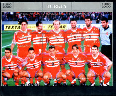 KIRGHIZSTAN  Feuillet  ( Turquie )   * *   Euro 2000   Football Soccer Fussball - Championnat D'Europe (UEFA)