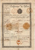 VP14.577 - MILITARIA - Préfecture De Police PARIS 1821 - Permis De Séjour - Mr Charles PAINBLANC - Police & Gendarmerie