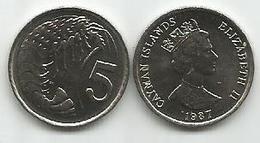 Cayman Islands 5 Cents 1987. High Grade - Cayman Islands
