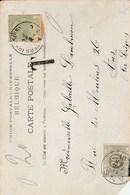 Kaart Met Strafport 20cts, Uitgeknipte Zegel Van Drukwerk Kaart - Briefe U. Dokumente