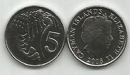Cayman Islands 5 Cents 2008. High Grade - Cayman Islands