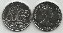 Cayman Islands 25 Cents 1996. High Grade - Cayman Islands