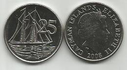Cayman Islands 25 Cents 2008. High Grade - Cayman Islands