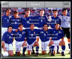 KIRGHIZSTAN  Feuillet  ( Italie )   * *   Euro 2000   Football Soccer Fussball - Championnat D'Europe (UEFA)