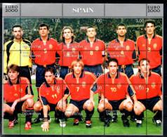 TADJIKISTAN  Feuillet  ( Espagne )   * *   Euro 2000 Football Soccer Fussball - Championnat D'Europe (UEFA)