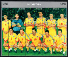 TURKMENISTAN Feuillet  ( Roumanie )   * *   Euro 2000 Football Soccer Fussball - Championnat D'Europe (UEFA)