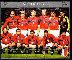 TURKMENISTAN Feuillet  ( Tcheque )   * *   Euro 2000 Football Soccer Fussball - Championnat D'Europe (UEFA)