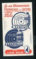 BUVARD:  METAPOL - RADIOLA PRODUIT LION NOIR - FORMAT  Env. 11,5X20,5 Cm - Produits Ménagers