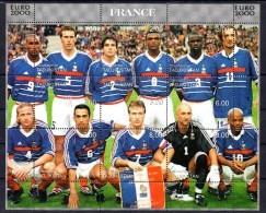 TADJIKISTAN  Feuillet  ( France )   * *   Euro 2000 Football Soccer Fussball - Championnat D'Europe (UEFA)