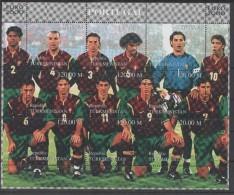 TURKMENISTAN  Feuillet  ( Portugal )   * *   Euro 2000 Football Soccer Fussball - Championnat D'Europe (UEFA)