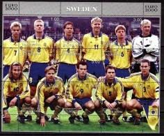 TADJIKISTAN  Feuillet  ( Suede )   * *   Euro 2000 Football Soccer Fussball - Championnat D'Europe (UEFA)