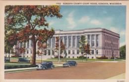 Wisconsin Kenosha Kenosha County Court House Curteich - Kenosha