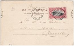 Kaart 10cts Rood, Stempel Boma En Proefstempel Brussel Type Krag - 1894-1923 Mols: Lettres