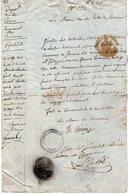 VP14.578 - Empire - Commune De CERVIONE 1814 - Laissez - Passer Pour L'Italie ? - Vieux Papiers