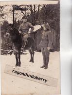 CPA PHOTO - POLOGNE - TESCHEN -CIESZYN - MILITARIA - CHASS ALPINS Et OFF POLONAIS 2ème Cie Conflit POLOGNE TCHEC1920 - Poland
