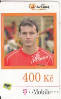 CZECH REPUBLIC - Euro 2004, Football/Vratislav Lokvenc, T Telecom Prepaid Card 400 Kc, Exp.date 16/07/09, Used - Czech Republic