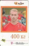 CZECH REPUBLIC - UEFA Euro 2004, Football/Rene Bolf, T Telecom Prepaid Card 400 Kc, Exp.date 16/07/09, Used - Czech Republic