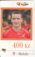 CZECH REPUBLIC - UEFA Euro 2004, Football/Vladimir Smicer, T Telecom Prepaid Card 400 Kc, Exp.date 16/07/09, Used - Czech Republic