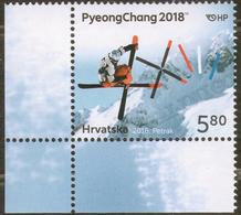 2018 Croatia 1v-corner SPORT: Olympic Winter Games In Pyeongchang MNH - Winter 2018: Pyeongchang