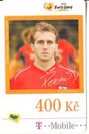 CZECH REPUBLIC - UEFA Euro 2004, Football/Karel Podorsky, T Telecom Prepaid Card 400 Kc, Exp.date 16/07/09, Used - Czech Republic