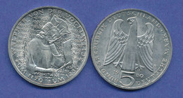 Bundesrepublik 5DM Gedenkmünze 1979, Walther Von Der Vogelweide - [ 7] 1949-…: BRD