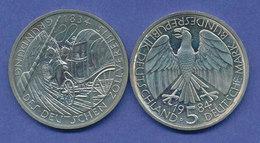 Bundesrepublik 5DM Gedenkmünze 1984, Deutscher Zollverein - [ 7] 1949-… : FRG - Fed. Rep. Germany