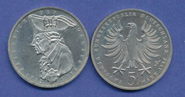 Bundesrepublik 5DM Gedenkmünze 1986, Friedrich Der Große - [ 7] 1949-… : FRG - Fed. Rep. Germany