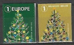 2018 Christmas Noel Kerstmis Navidad Belgie + Europa Bovenaan Ongetand - Non Dentele En Haut MNH !! - Neufs