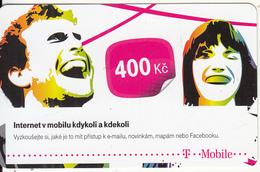 CZECH REPUBLIC - Couple, T Mobile Prepaid Card 400 Kc, Exp.date 17/10/16, Used - Czech Republic