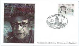 Enveloppe 1er Jour France FDC Georges Simenon 1994 - FDC