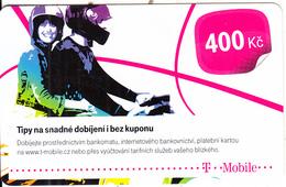CZECH REPUBLIC - Couple, T Telecom Prepaid Card 400 Kc, Exp.date 17/10/16, Used - Czech Republic