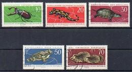 DDR  1963  MiNr. 978/ 982  O/ Used ; Geschützte Tiere - Briefmarken
